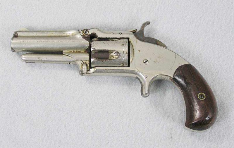 "S&W 1 1/2"" 32 RF cal spur trigger 5 shot revolver"