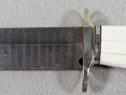 Damascus Custom Searles Style Blade Bowie Knife