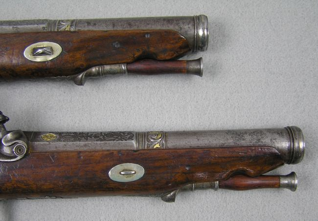 Basque Smooth Bore Percussion Pistols
