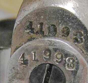 """Colt 1877 Lightning 3 1/2"""" etched panel"""