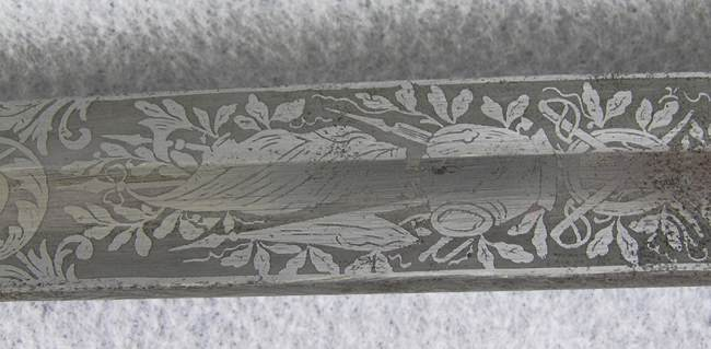 German Officers Sword w/etched Blade