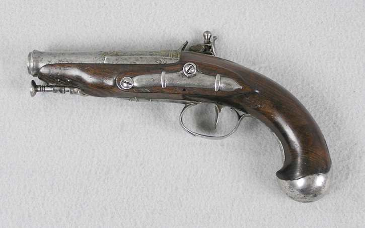 French 54 Caliber Flintlock Coat Pistol