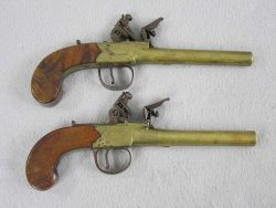 Sherwood Brass Barrel Flintlock Pistols