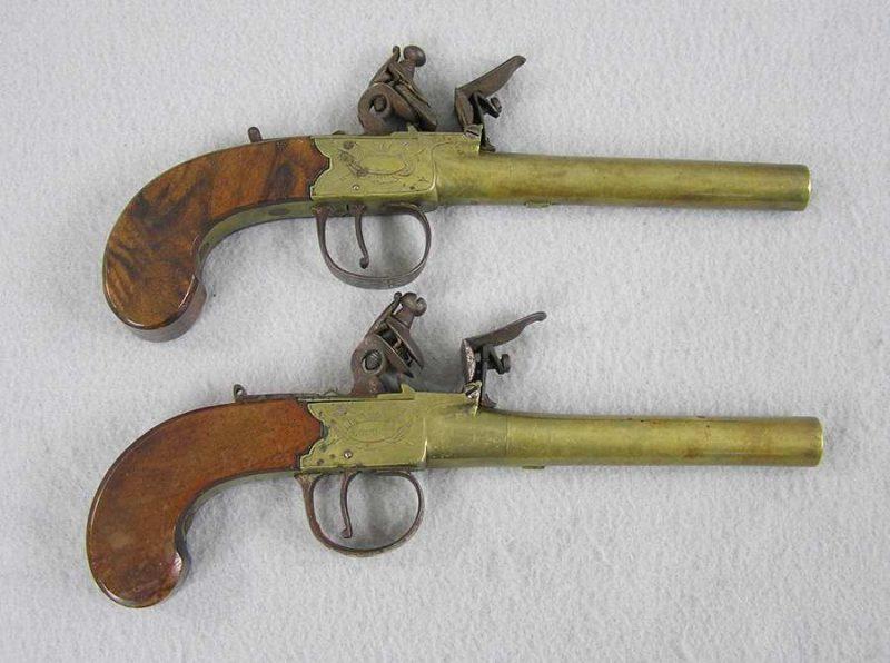 Sherwood Brass Barrel Flintlock Pistols