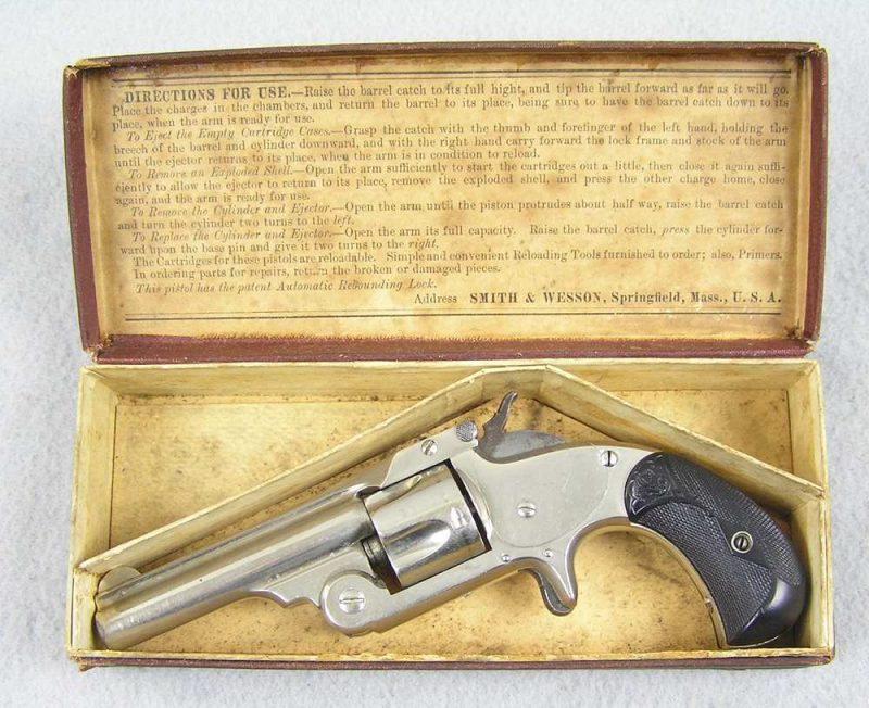 S&W Model No. 1-1/2 S.A. 32 CF With Factory Box