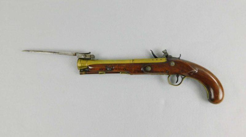 Knubley Flintlock Blunderbuss Bayonet Pistol